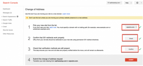 How To Tell Google About Site Address Change