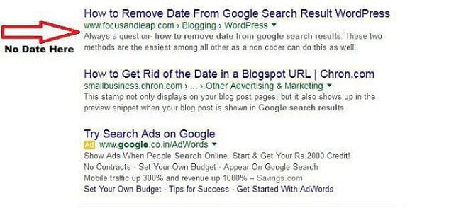 How to Remove Date from Google Search Results in a WordPress