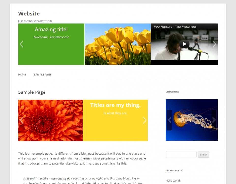 How To Create Slideshow In WordPress