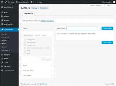How To Use Menus In WordPress