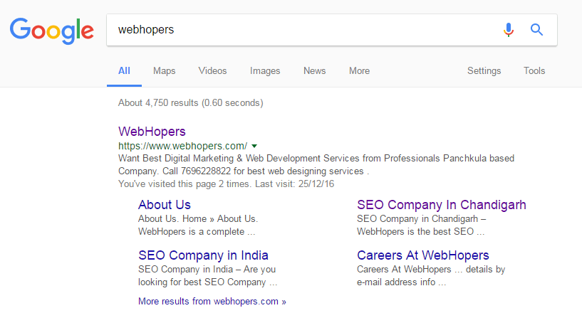How to Show Sitelinks in google search