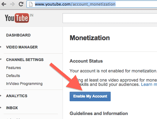how to use monetization on youtube
