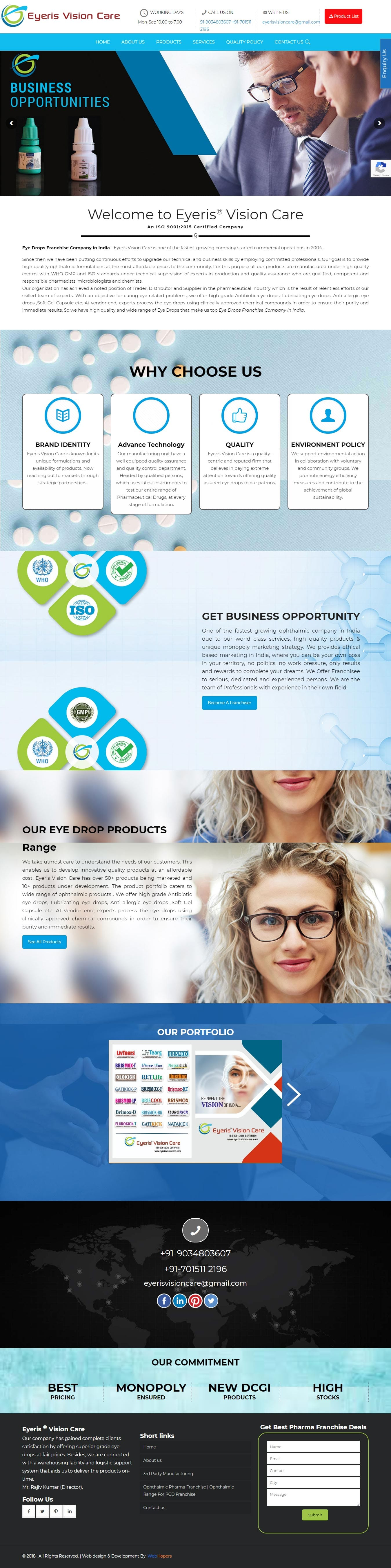 Web development Portfolio - WebHopers